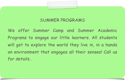 SUMMER PROGRAMS